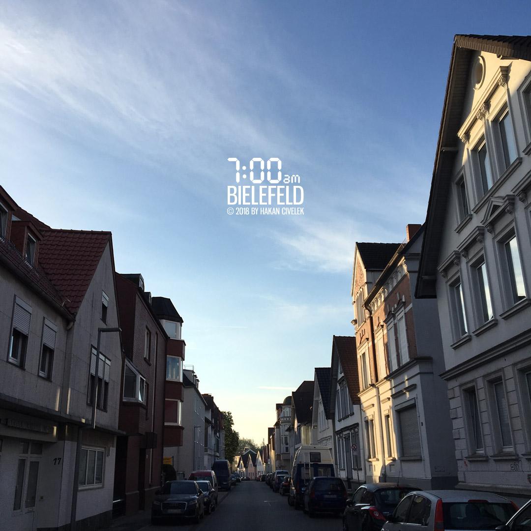Bielefeld um 7 Uhr morgens