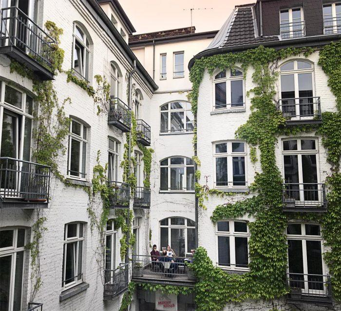 Innenhof des Hopper Hotels in Köln