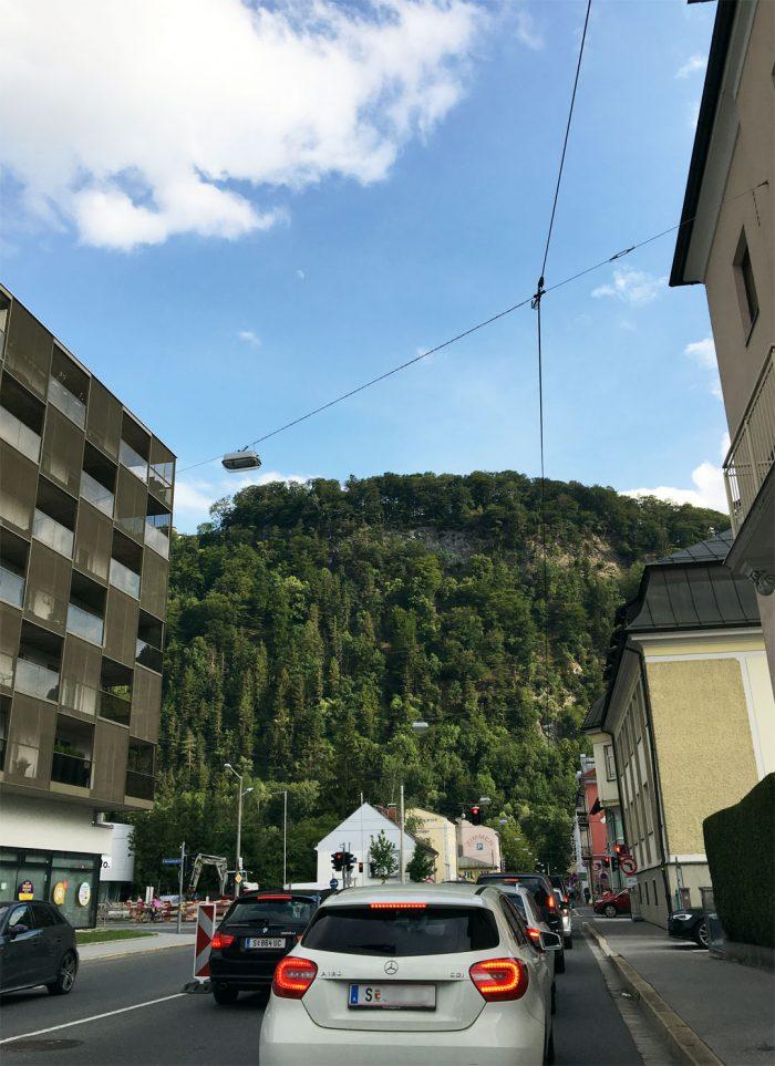 Salzburg - Fahrt mit dem Taxi zum Hotel Mercure