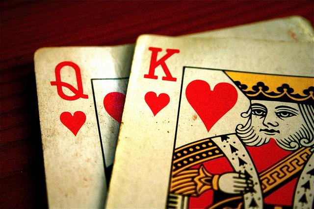 Spiel mit verdeckter Herzdame