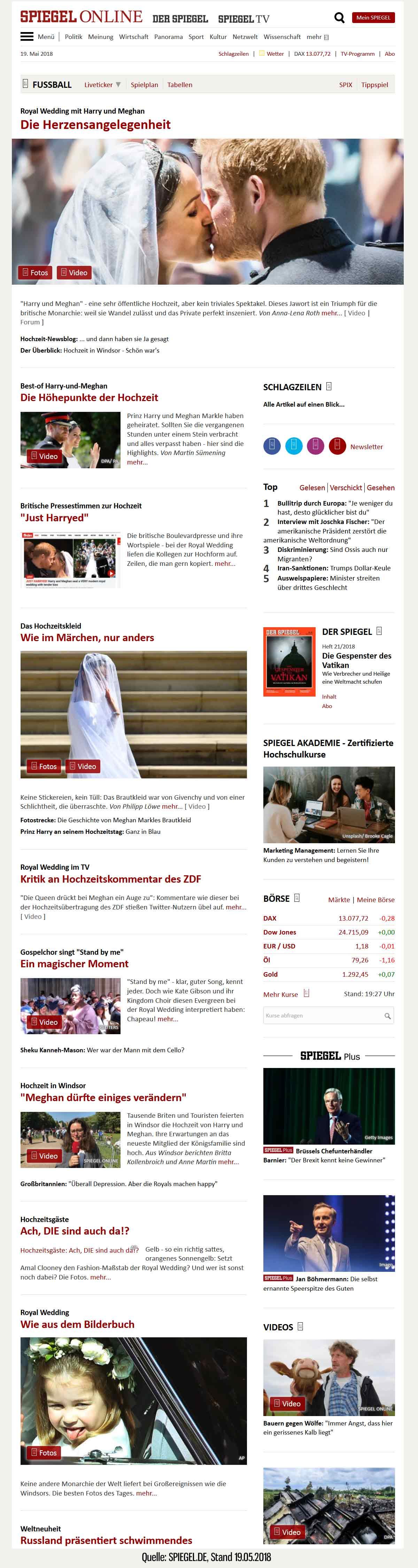 Spiegel.de am 19.05.2018