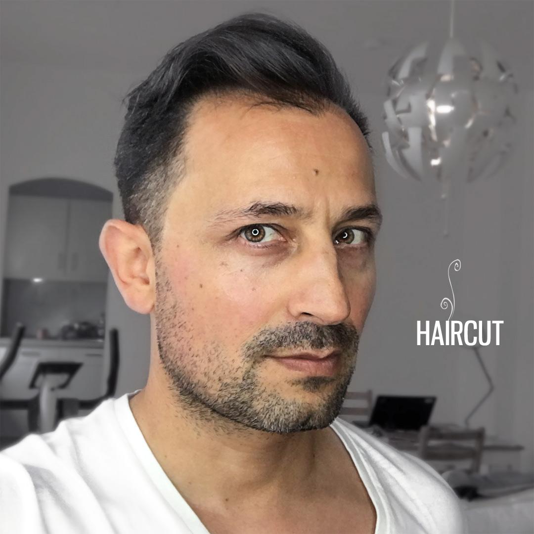 Nach dem Haarschnitt