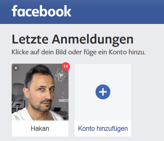 Letzte Anmeldung auf Facebook