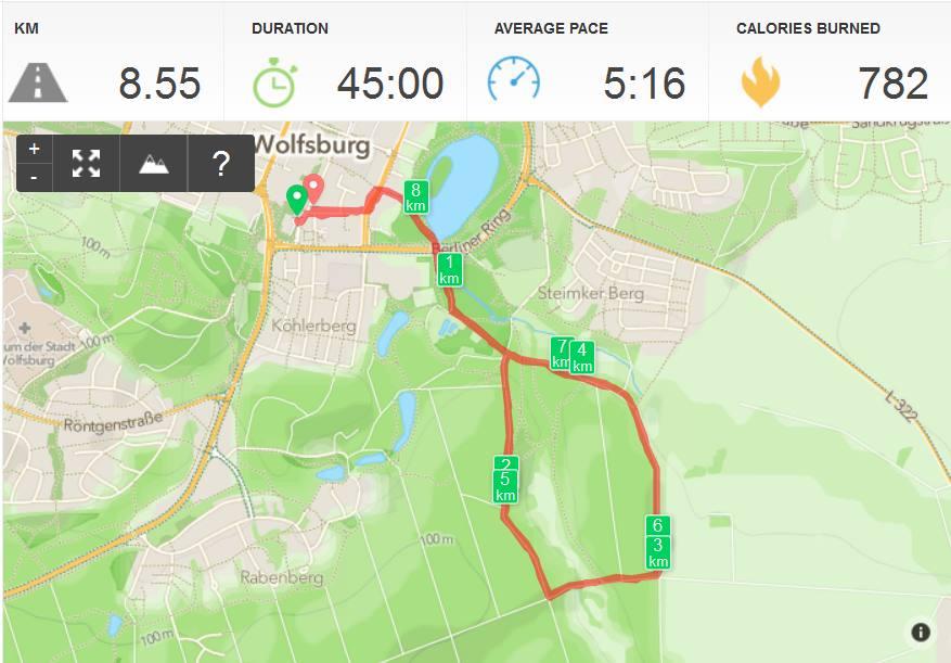 Joggen in Wolfsburg