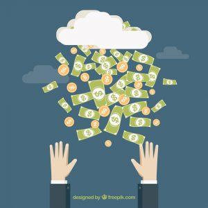 Raining money by freepik